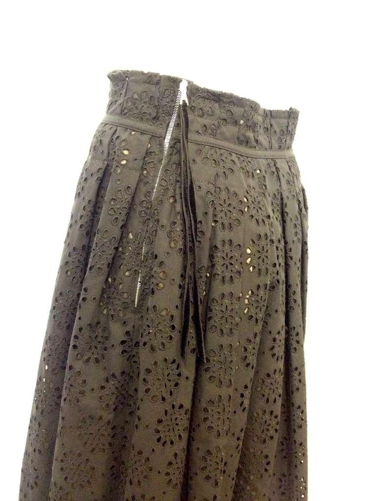 Marc Jacobs Black Eyelet Skirt 3