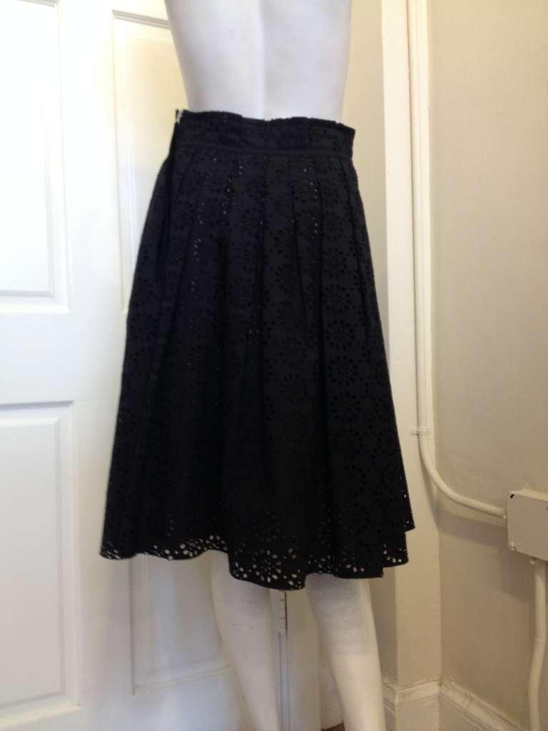 Marc Jacobs Black Eyelet Skirt 4