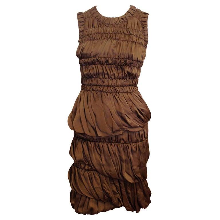 Burberry Prorsum Bronze Billowy Dress 1