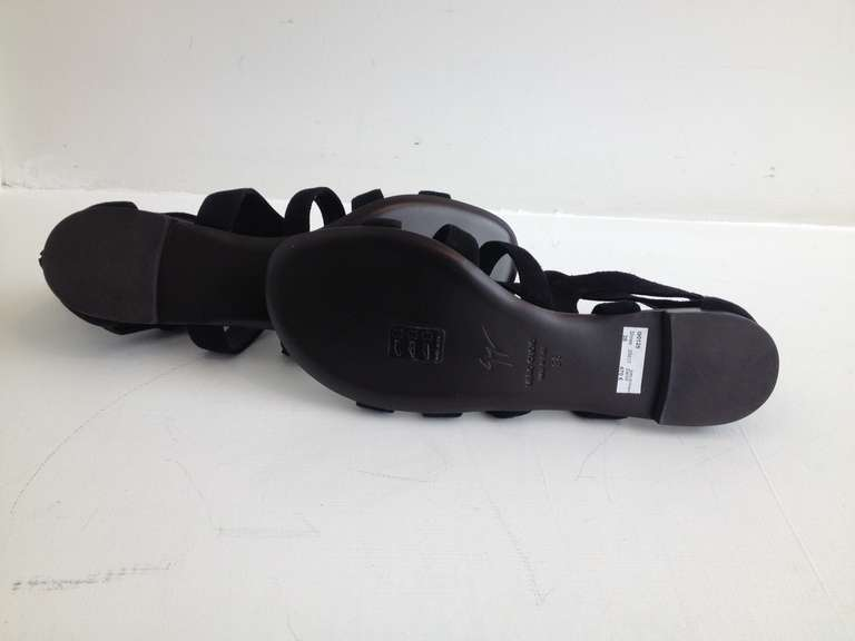 Giuseppe Zanotti Black Gladiator Sandal 4