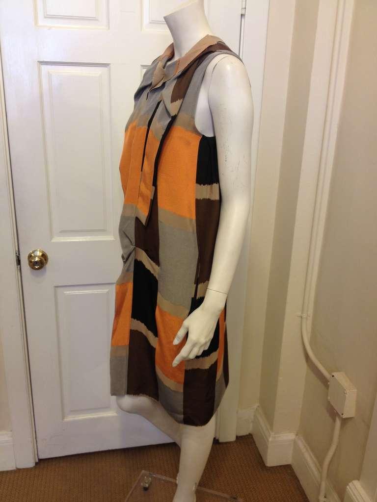 Marni Brown and Orange Dress 3