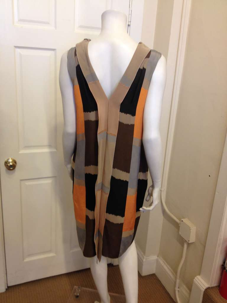 Marni Brown and Orange Dress 4
