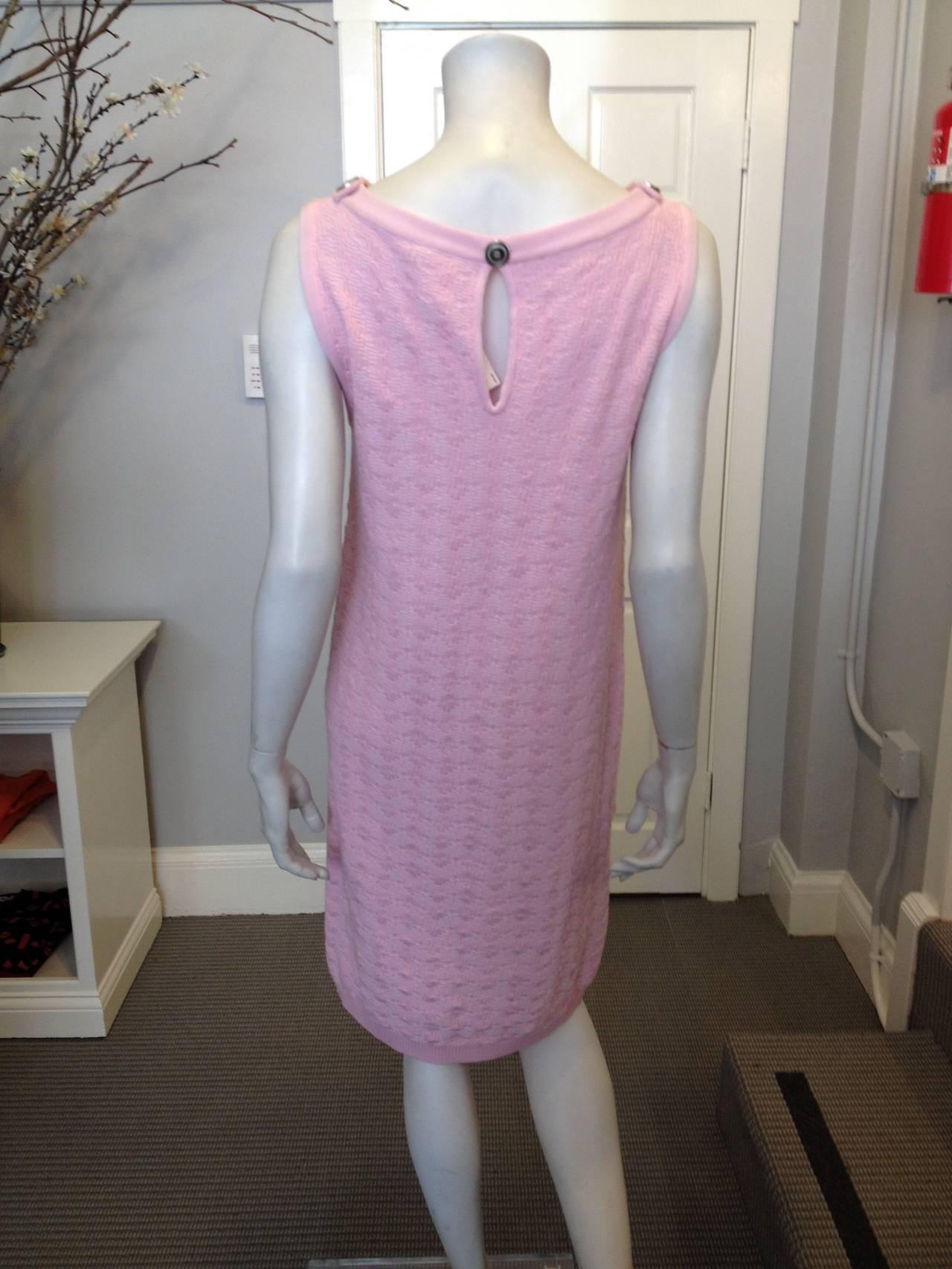 Chanel Pink Knit Sleeveless Dress 7