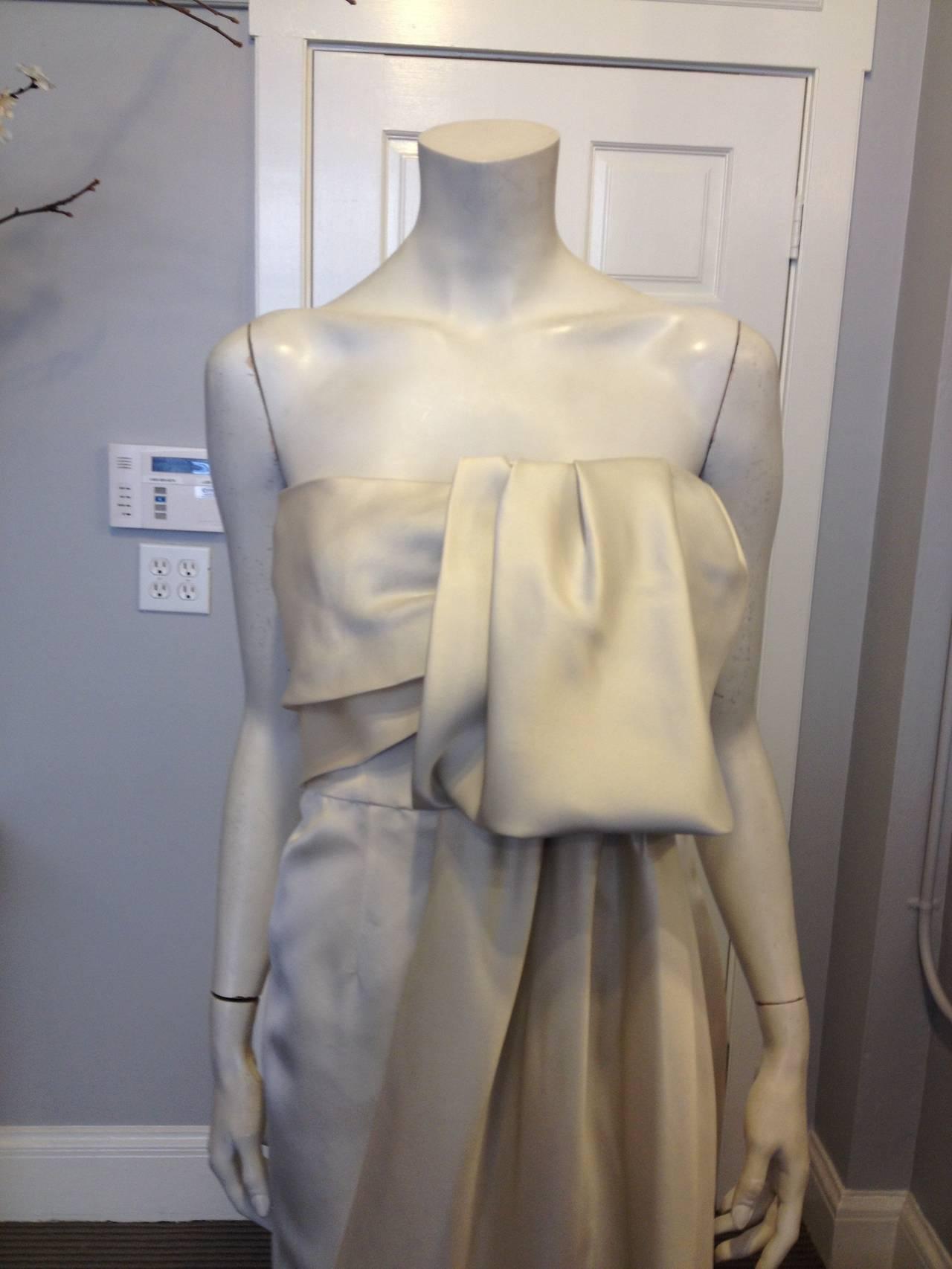 Prada Cream Satin Draping Demi-Couture Gown 2