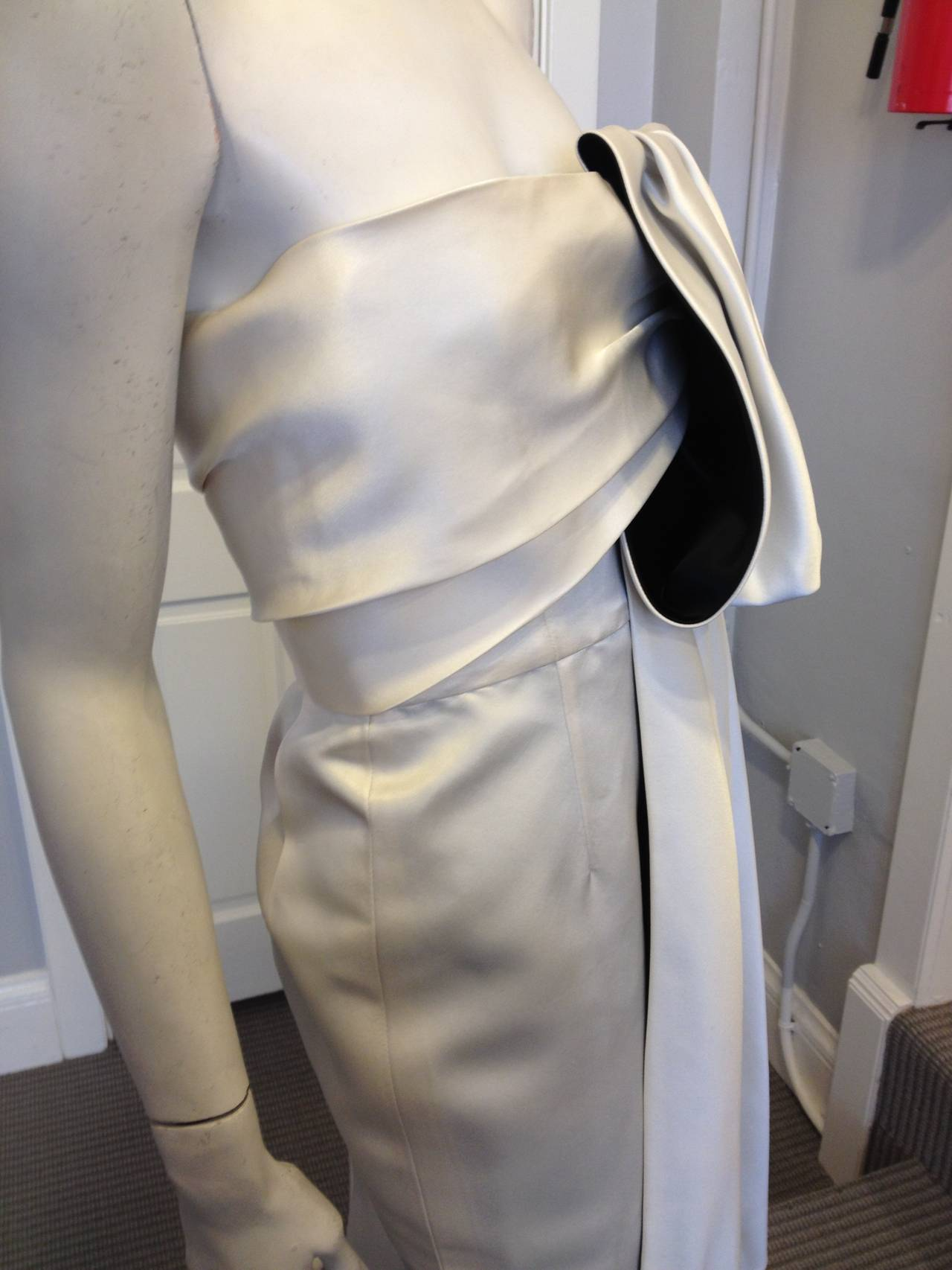 Prada Cream Satin Draping Demi-Couture Gown 3