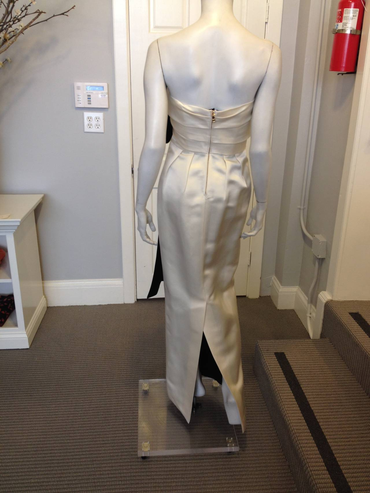 Prada Cream Satin Draping Demi-Couture Gown 8