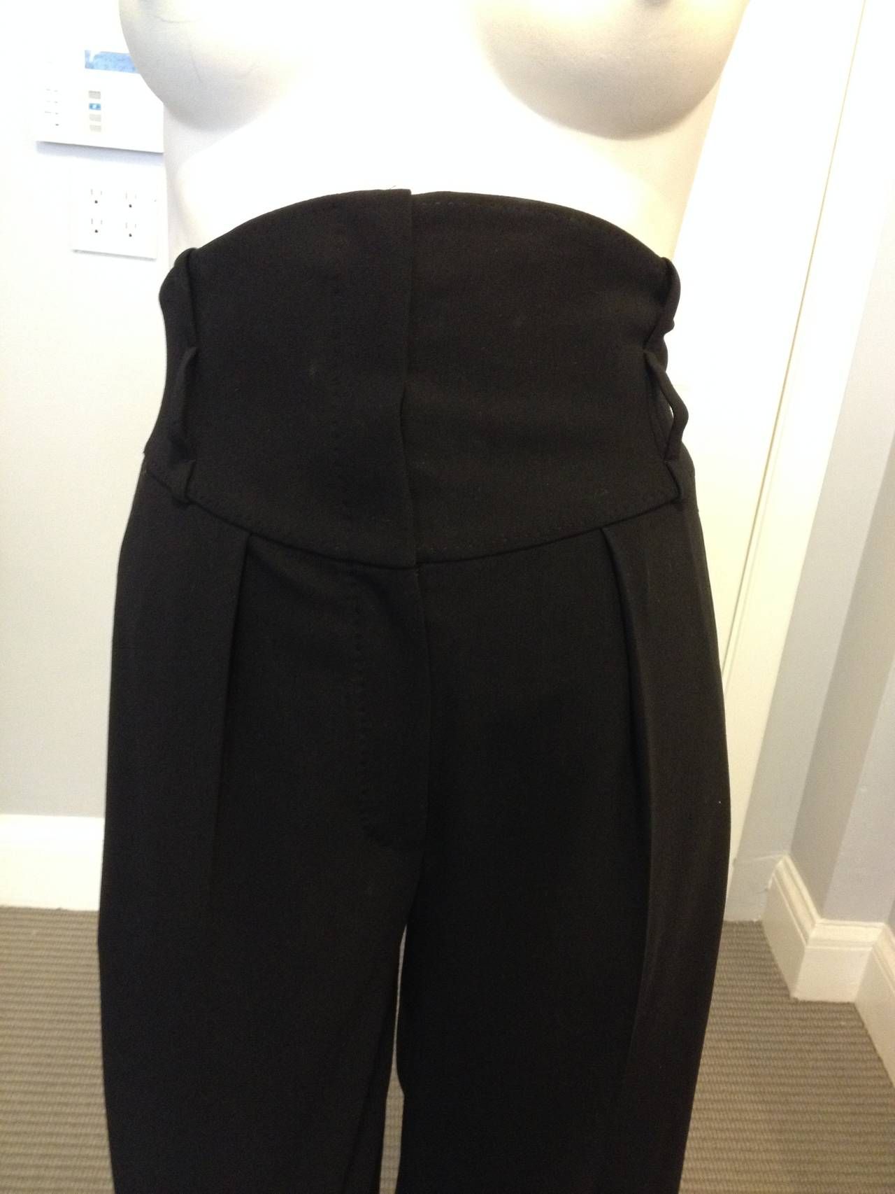 Hermes Black Pant with High Waist 2