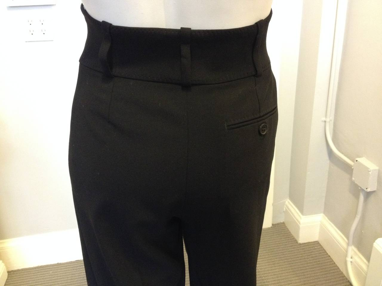 Hermes Black Pant with High Waist 3