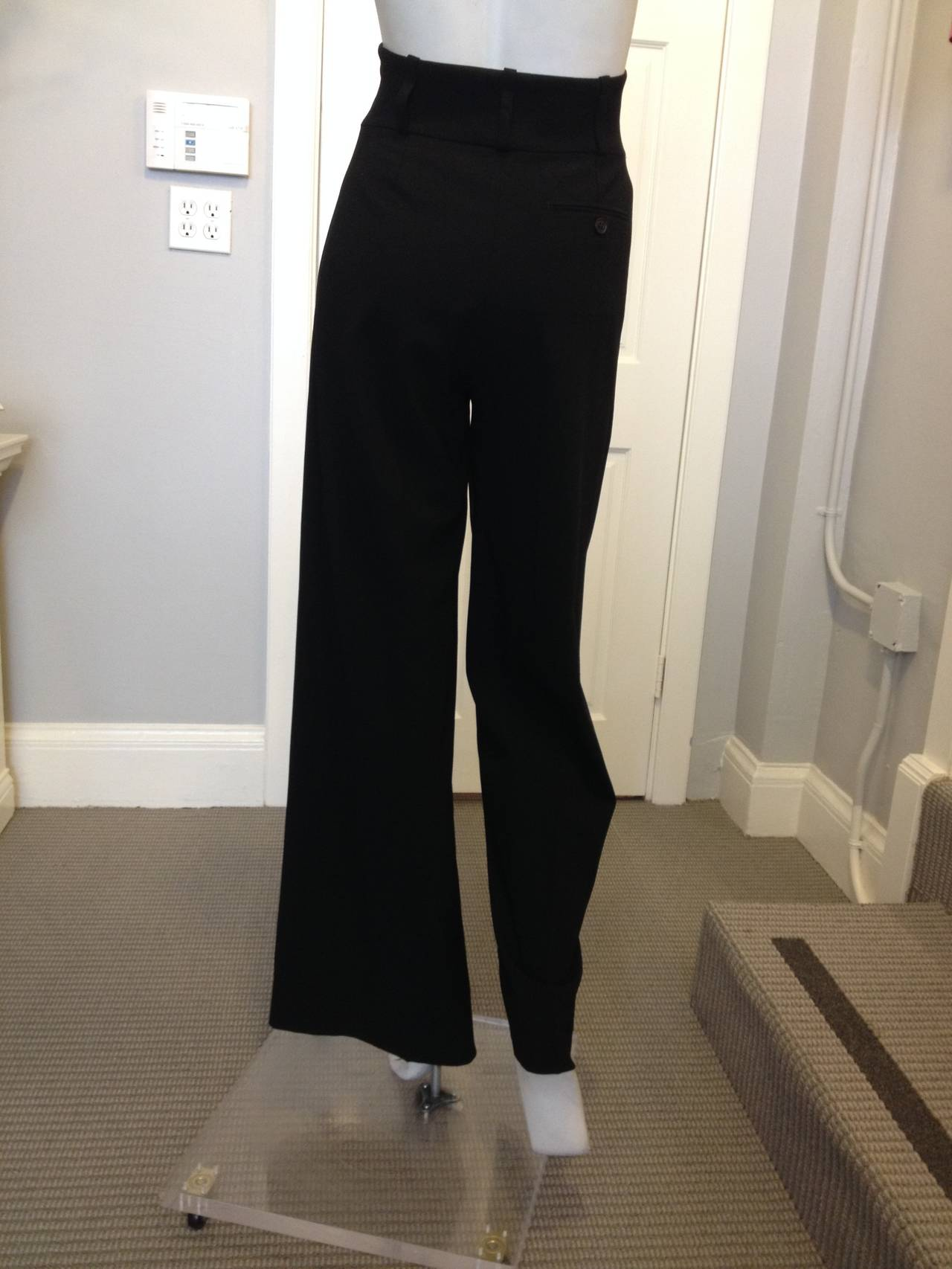 Hermes Black Pant with High Waist 4