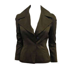 Tom Ford Olive Fitted Blazer