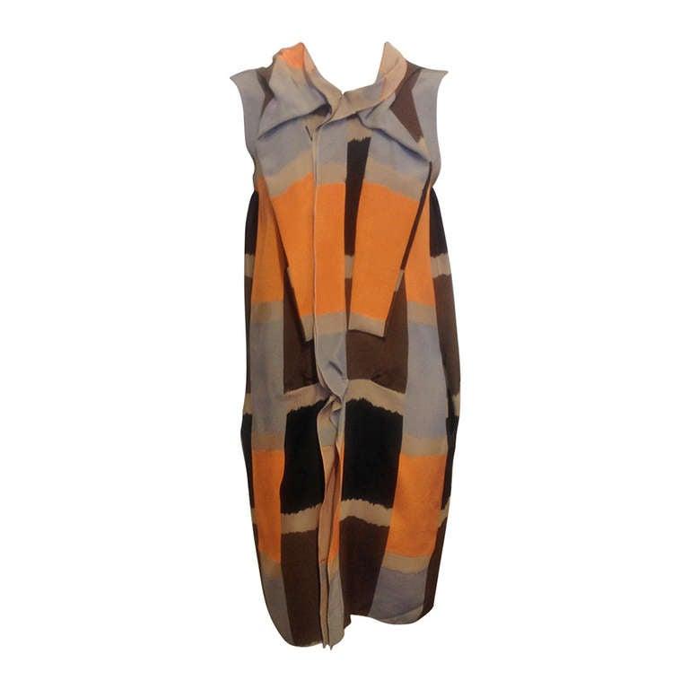 Marni Brown and Orange Dress 1