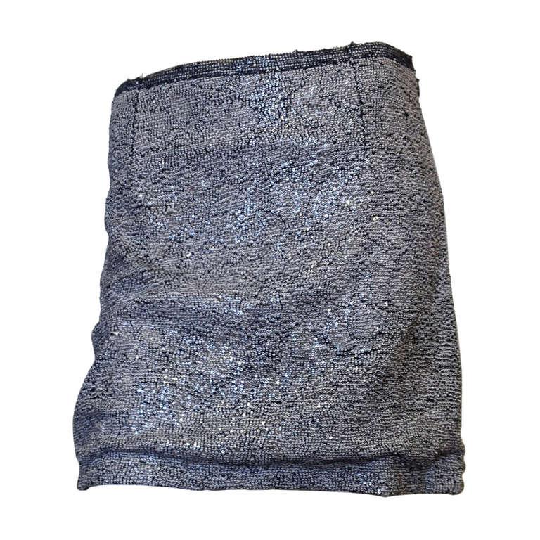 Rochas Black and White Sequin Miniskirt