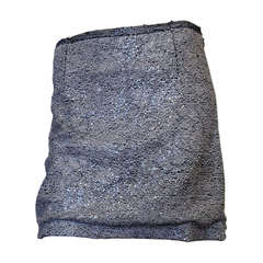 Rochas Black and White Sequin Miniskirt