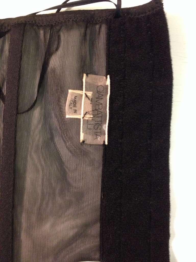Women's Giambattista Valli Dark Grey Bodycon Dress For Sale