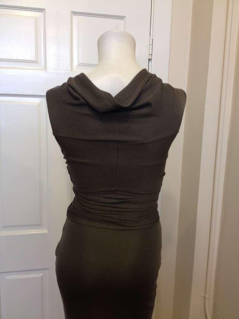 Giambattista Valli Dark Grey Bodycon Dress In New never worn Condition For Sale In San Francisco, CA