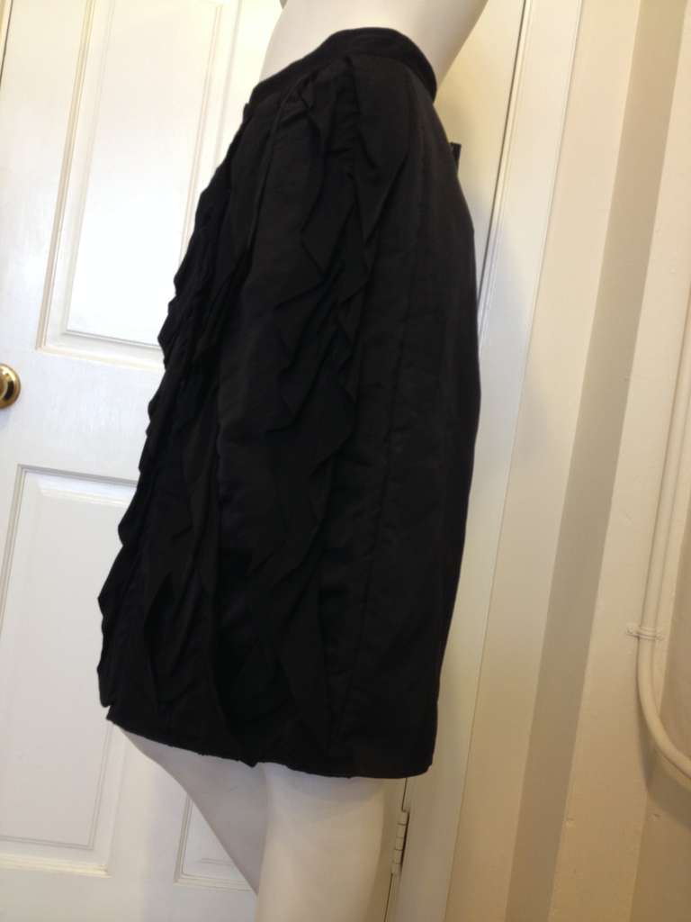 Lanvin Black Ribbon Skirt In Excellent Condition For Sale In San Francisco, CA