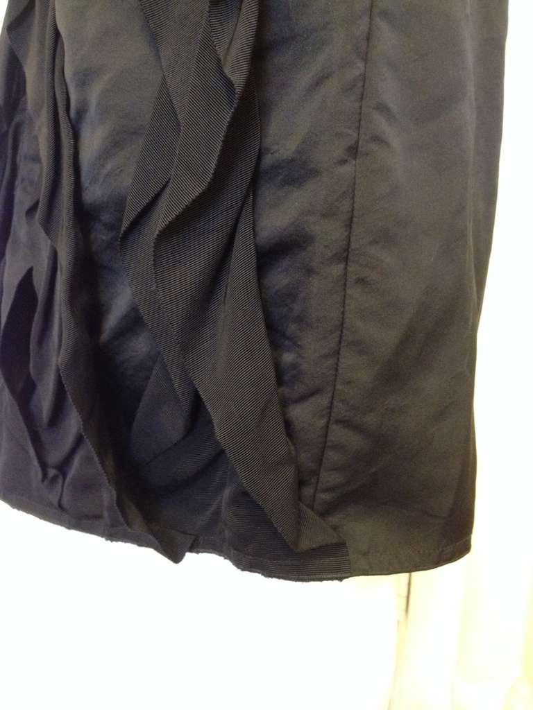 Women's Lanvin Black Ribbon Skirt For Sale