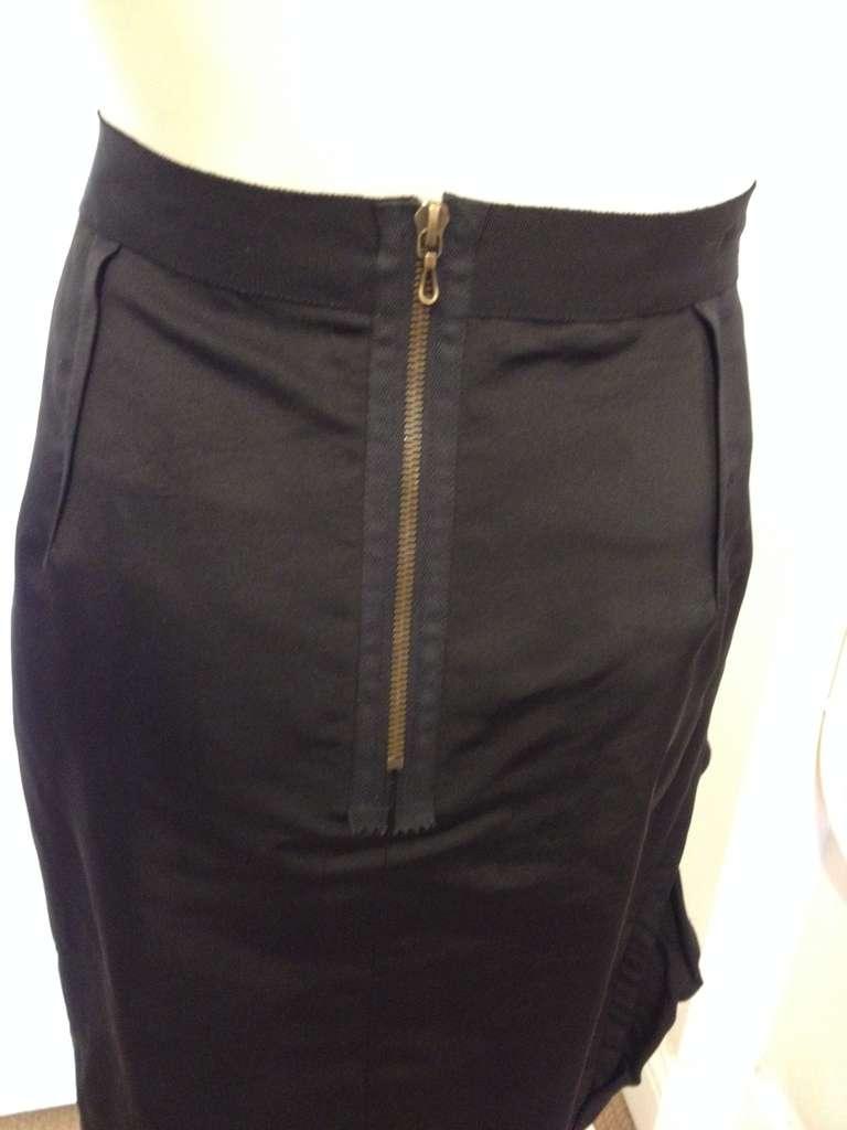 Lanvin Black Ribbon Skirt For Sale 2