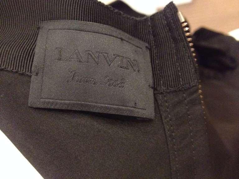 Lanvin Black Ribbon Skirt For Sale 3