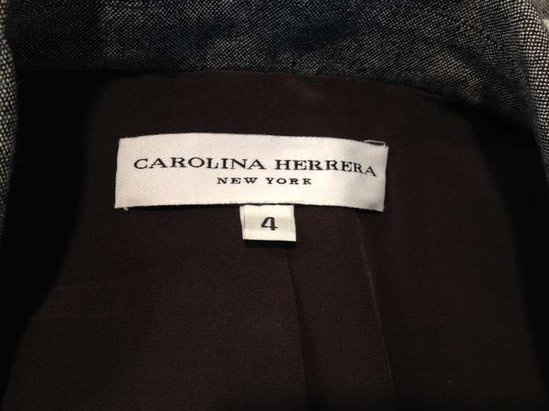 Carolina Herrera Grey Lightweight Coat 5