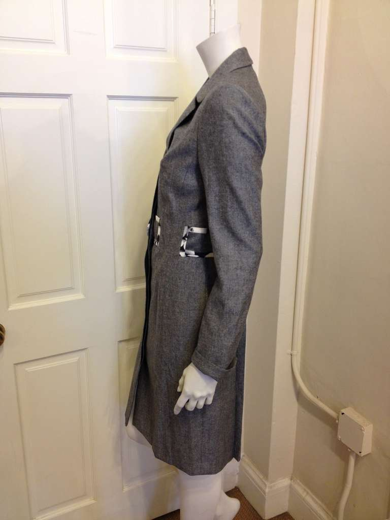 Carolina Herrera Grey Lightweight Coat 3