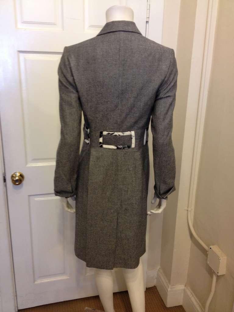 Carolina Herrera Grey Lightweight Coat 4