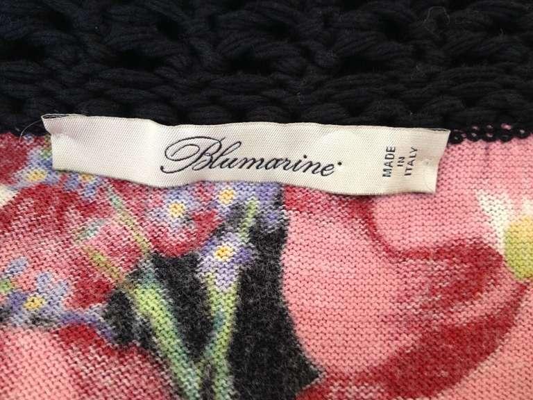 Blumarine Floral Knit Top 5
