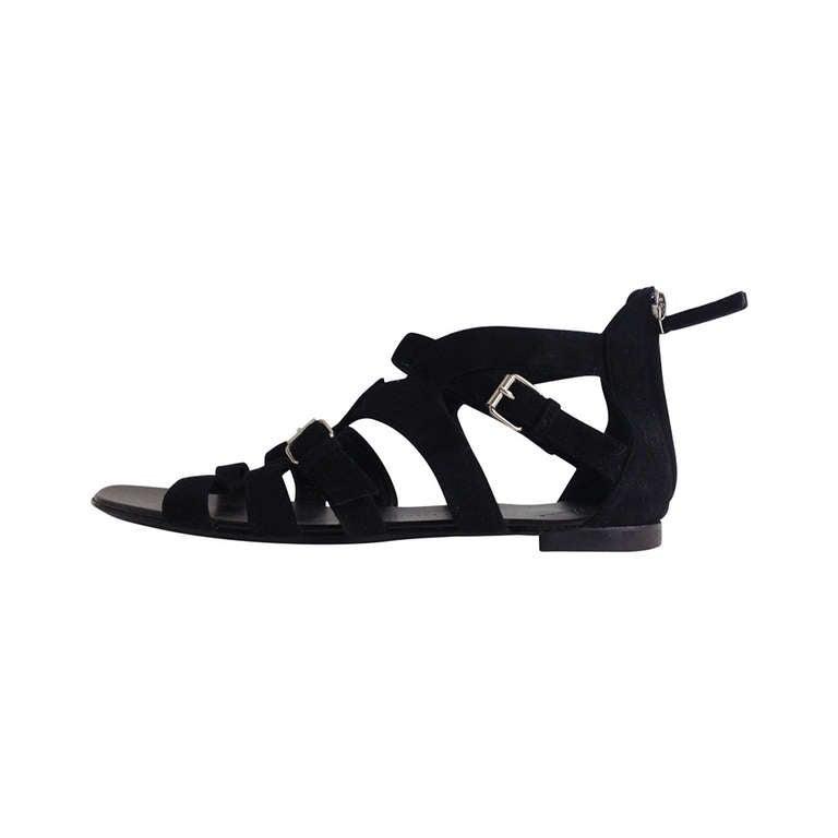 Giuseppe Zanotti Black Gladiator Sandal 1