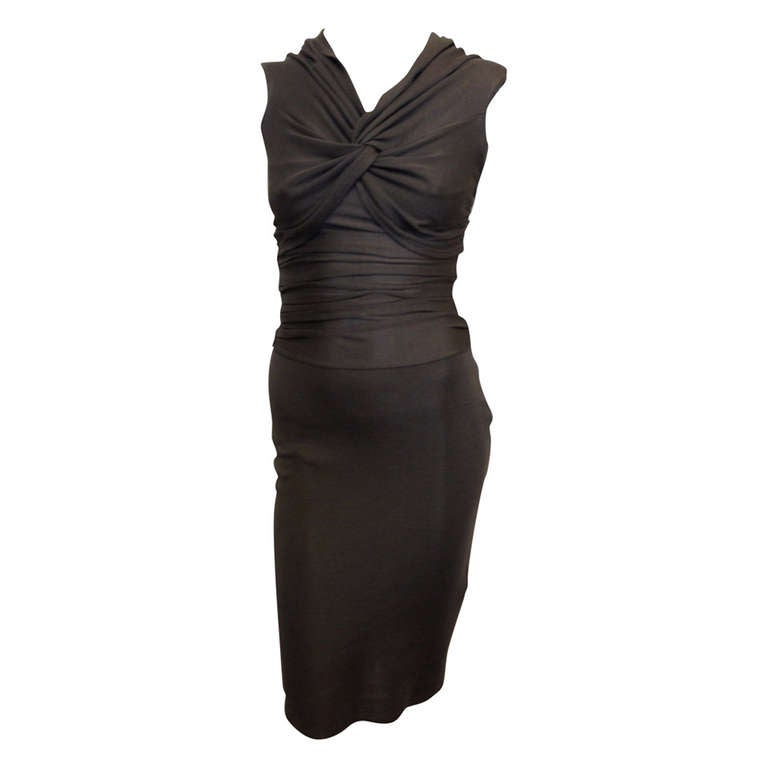Giambattista Valli Dark Grey Bodycon Dress For Sale