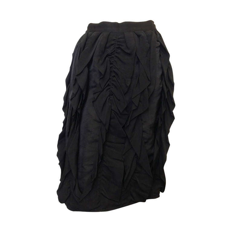 Lanvin Black Ribbon Skirt