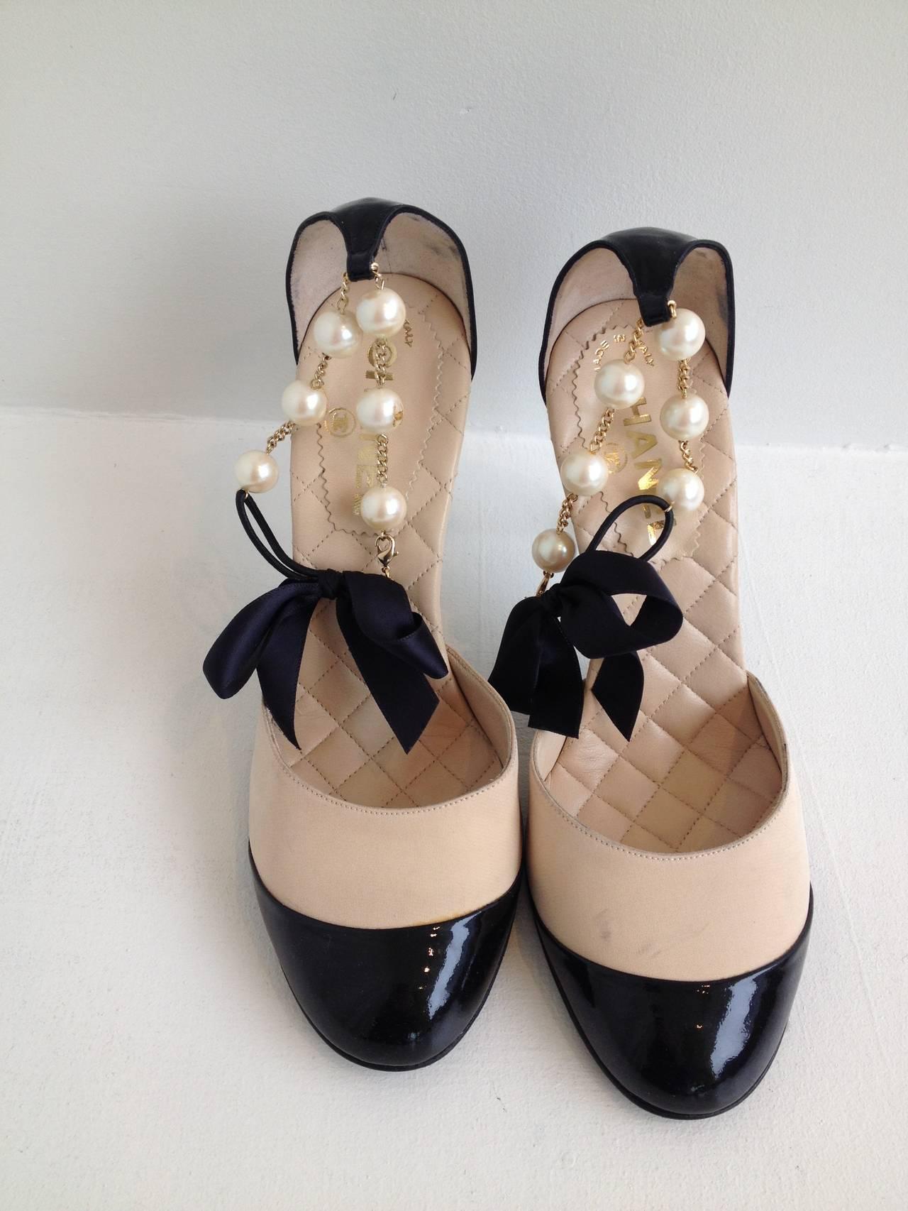 Cream Ankle Strap Heels