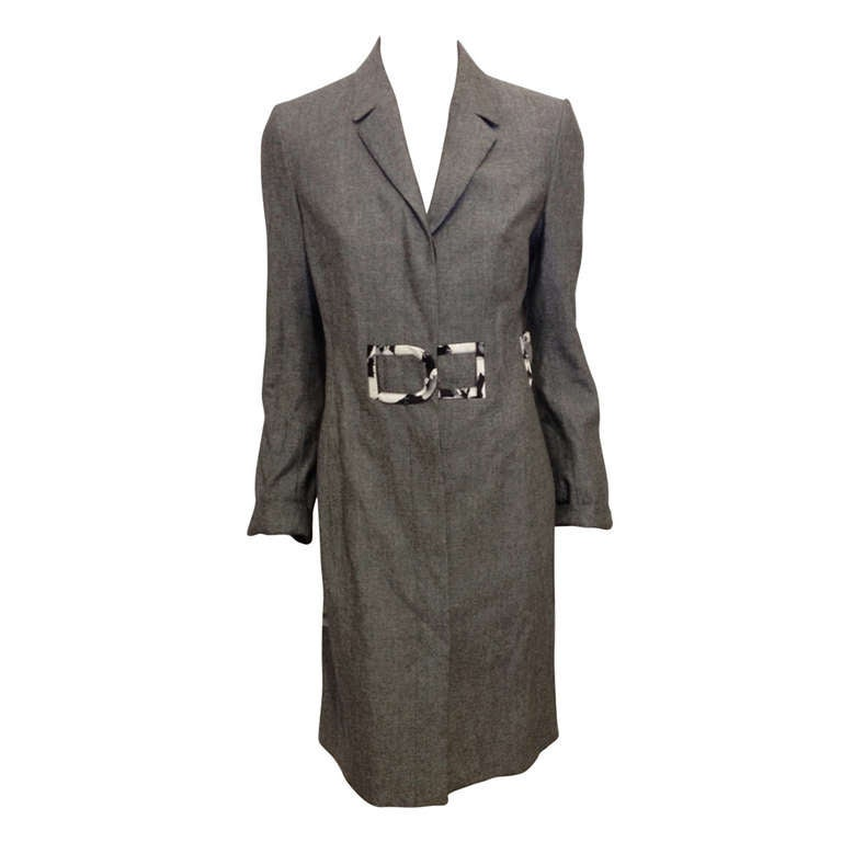 Carolina Herrera Grey Lightweight Coat
