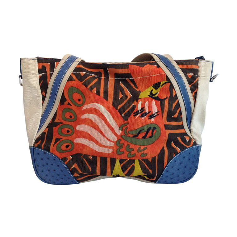Prada Multicolored Canvas Bag at 1stdibs