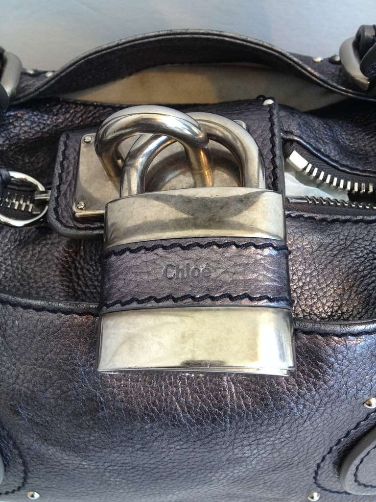 chloe metallic paddington bag