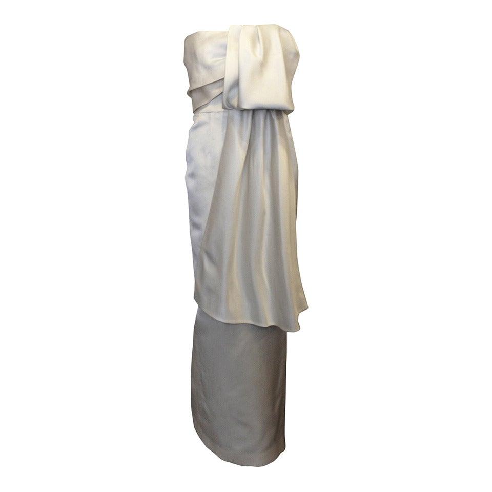 Prada Cream Satin Draping Demi-Couture Gown 1