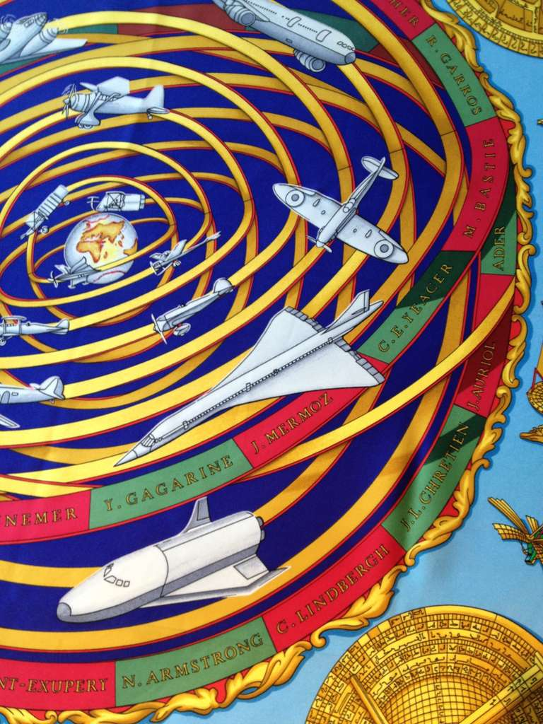 Hermes Reves d'Espace Scarf For Sale 1