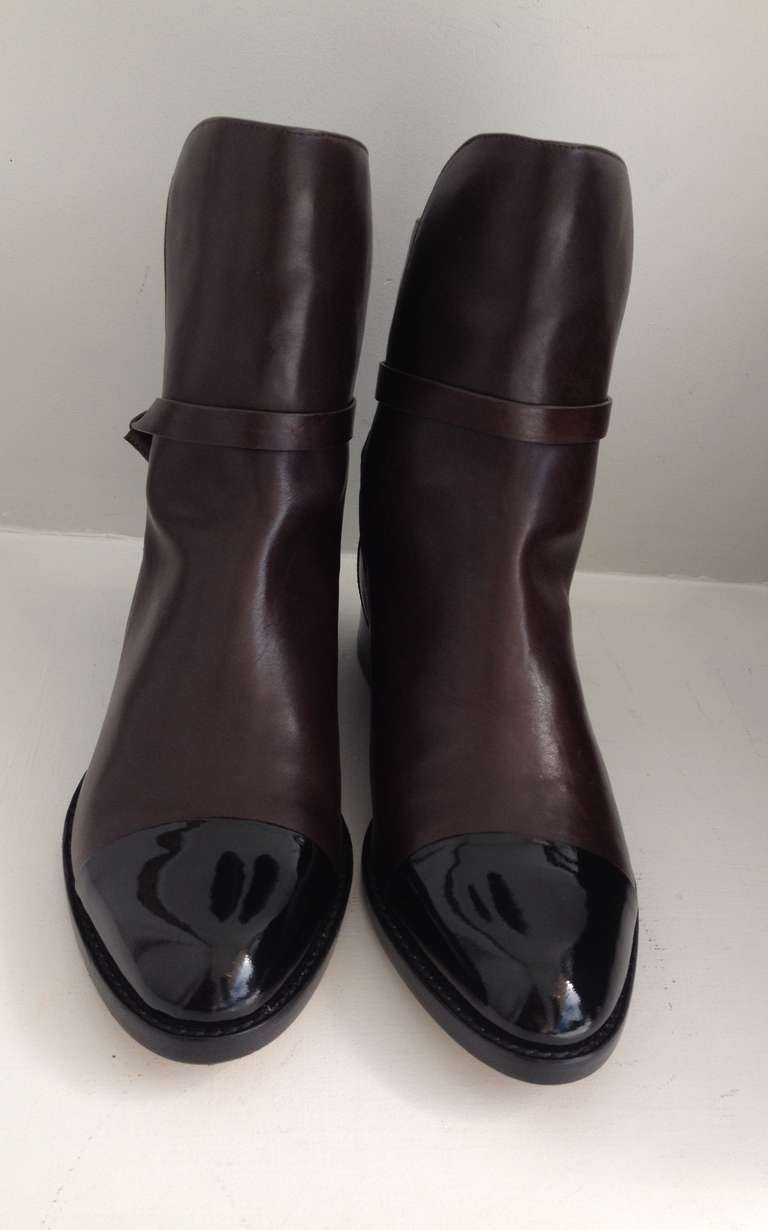 Alexander Wang Brown Leather Ankle Boots 2
