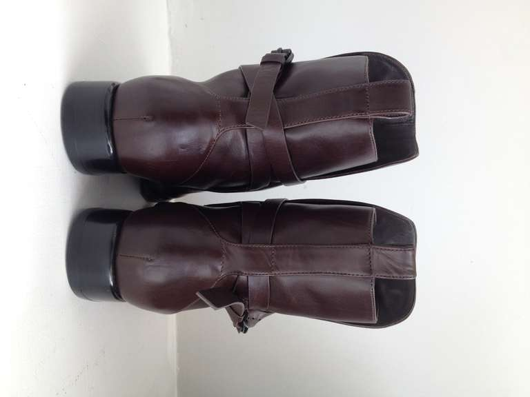 Alexander Wang Brown Leather Ankle Boots 3