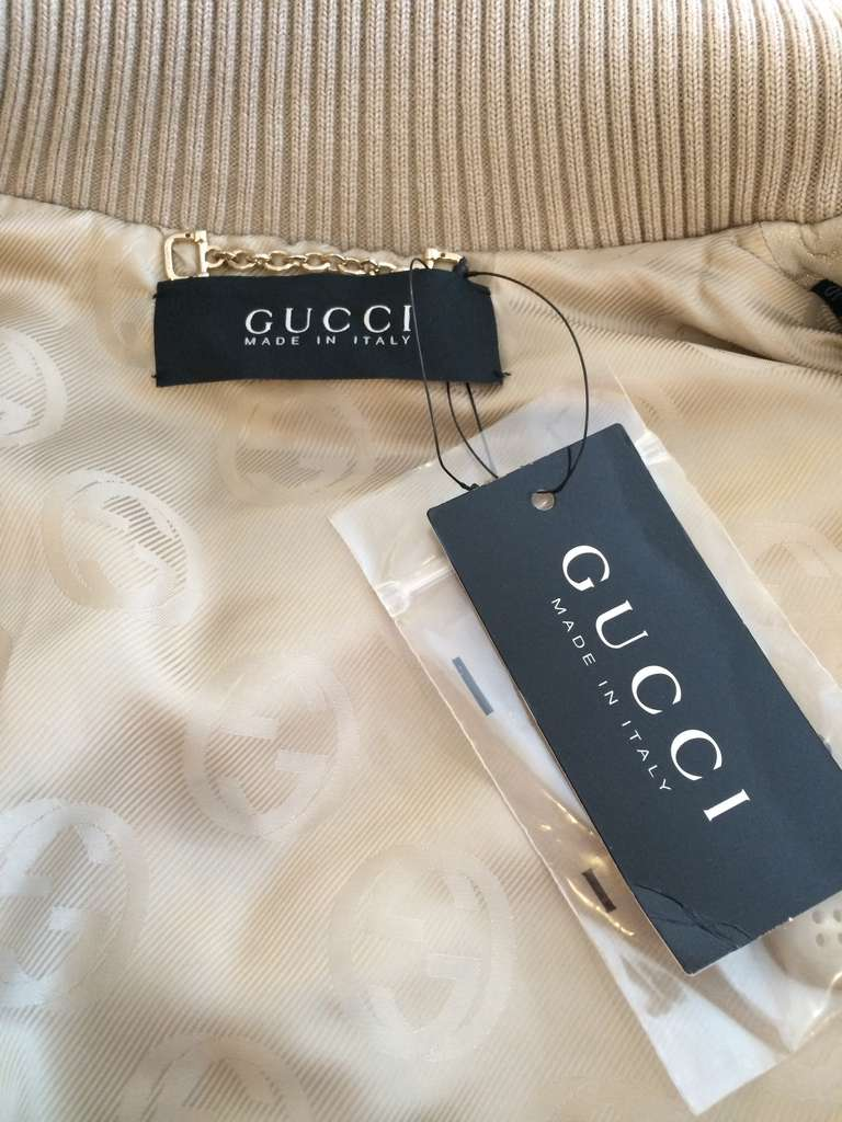 Gucci Gold Leather Jacket 9