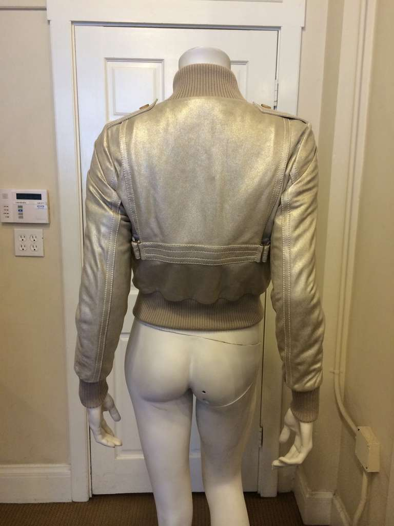 Gucci Gold Leather Jacket 6