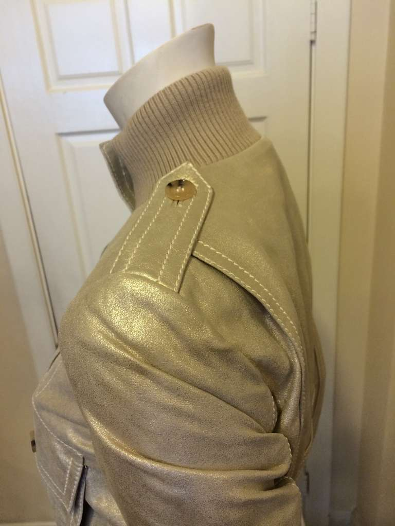 Gucci Gold Leather Jacket 8