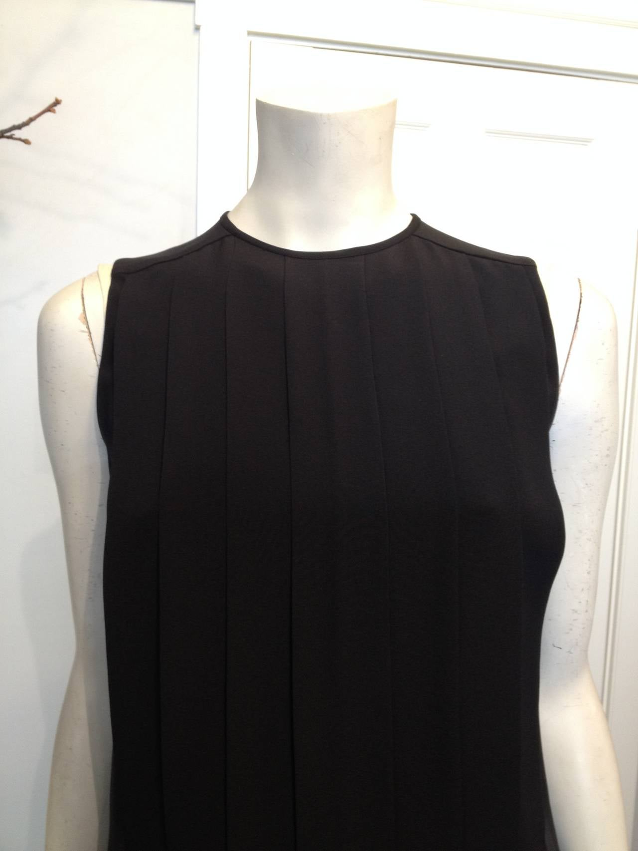 Chanel Black Silk Pleated Top 4