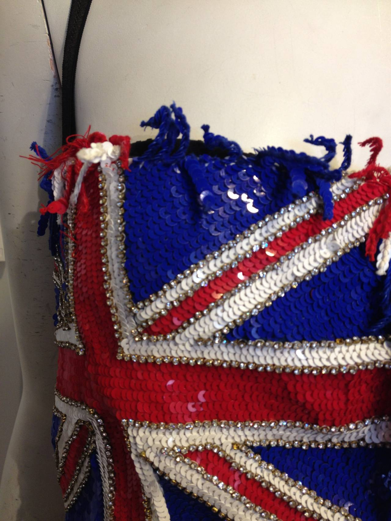 Dolce & Gabbana Blue and Red Sequined Bustier 5