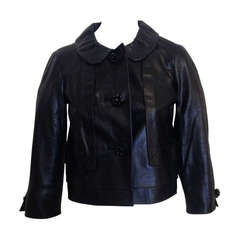 Louis Vuitton Navy Leather Jacket