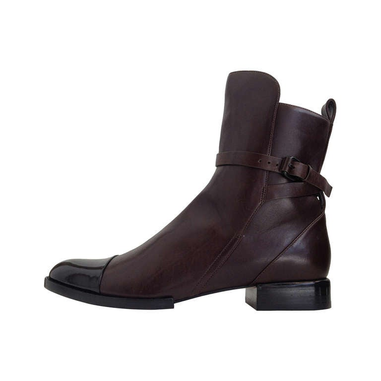 Alexander Wang Brown Leather Ankle Boots 1