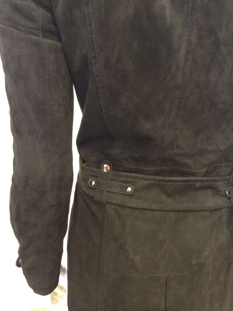 Phi Black Leather Motorcycle Coat 5