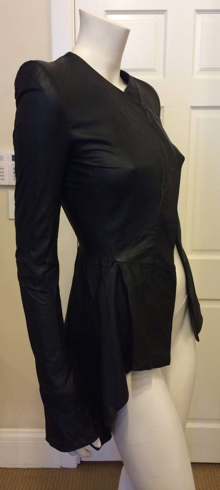 Gareth Pugh Black Leather Jacket In Excellent Condition For Sale In San Francisco, CA