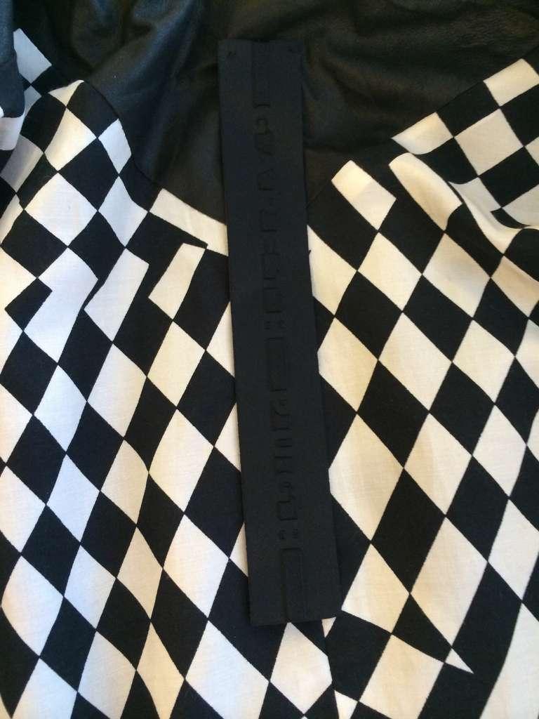 Gareth Pugh Black Leather Jacket For Sale 5