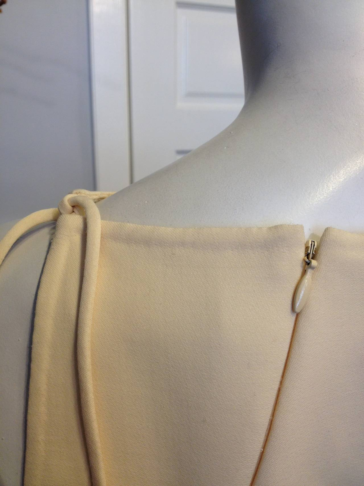 Chado Cream Sleeveless Dress In Excellent Condition For Sale In San Francisco, CA