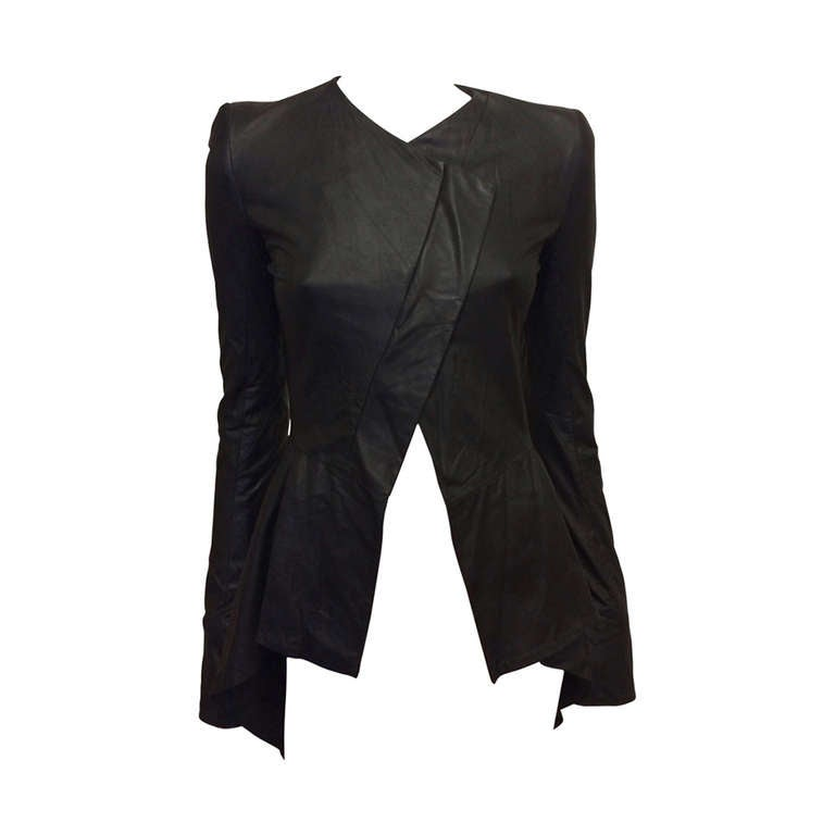 Gareth Pugh Black Leather Jacket